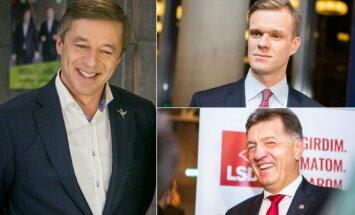 Ramūnas Karbauskis, Gabrielius Landsbergis ir  Algirdas Butkevičius