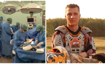 Mikrochirurginė technika padėjo išgelbėti jaunuoliui ranką