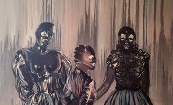 Claire Tabouret. Trys kaukės. 2015. Lewben Art Foundation kolekcija