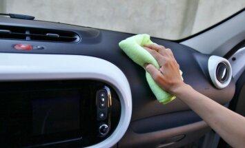 Švara automobilyje labai svarbi