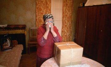 Moters emocijos gavus siuntinį, sovietmetis
