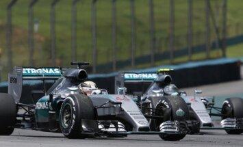 Lewisas Hamiltonas ir Nico Rosbergas