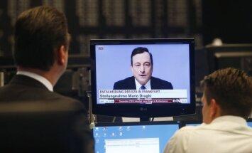 ECB vadovas Mario Draghi praneša apie naują euro zonos ekonomikos skatinimo programą
