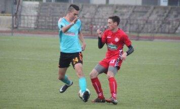 LFF I lygos futbolo rungtynių Panevėžys - Nevėžis akimirka.