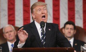 President Donald Trump addressing the US Congress