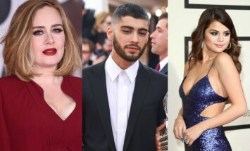Adele, Zyanas Malikas, Selena Gomez