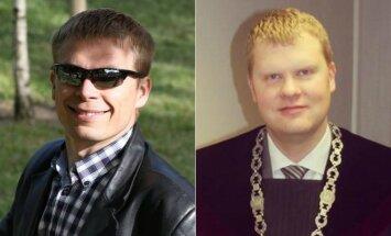 Teisėjai Mindaugas Klemenis (kairėje) ir Ramūnas Antanavičius