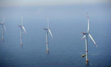 Apie 30 km nuo Belgijos krantų jūroje pradedamos eksploatuoti , generuosiančios elektros energiją