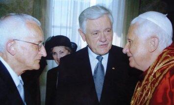 Leopoldas Digrys, prezidentas Valdas Adamkus, popiežius Benediktas XVI
