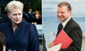 Dalia Grybauskaitė ir Saulius Skvernelis
