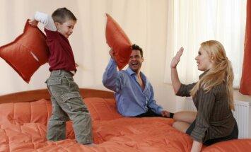 A pillow fight