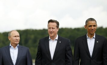 Vladimiras Putinas, Davidas Cameronas, Barackas Obama