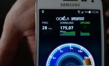 Tele2 4G+ paslaugos spartos matavimas