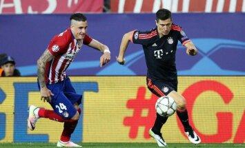 Jose Gimenezas  (Atletico) ir Robertas Lewandowskis (Bayern)