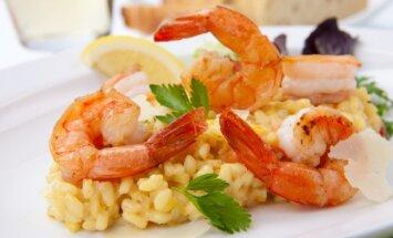 Dėl šio patiekalo teks pasistengti: tobulas rizotas su krevetėmis