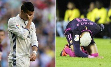 Cristiano Ronaldo (kairėje) ir Neymaras (AP ir AFP nuotr.)