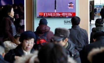 Šiaurės Korėja išbandė balistinę raketą