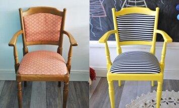 """<span style=""""color: #ff0000;"""">PRIEŠ ir PO:</span> ryški kėdė"""