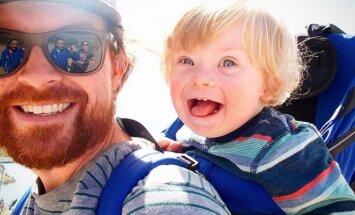 Alanas Lawrence su sūnumi Wilu