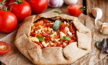 Pomidorų ir fetos pyragas