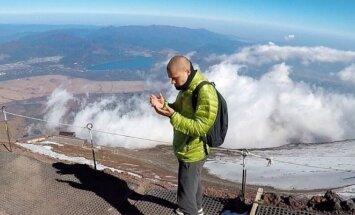 J. Laukaitis ant Fudži kalno