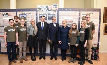 Misija Sibiras 2015 dalyviai susitiko su Baltijos šalių vadovais