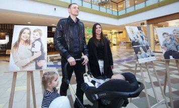 Mindaugas Katelynas su žmona ir dukrele