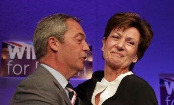 UKIP vadovo poste Farage'ą pakeitė Diane James