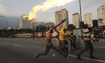 Protestai Venesuelos sostinėje Karakase