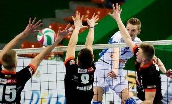 """Šiaulių """"Elga-Master Idea-SM Dubysa ir """"Vilniaus kolegija-Flamingo Volley mačo akimkirka"""