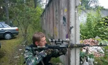 Jevgenijus Denisovas at Nemenčinė forest