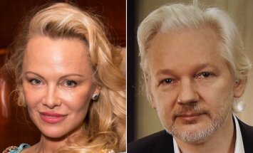 Pamela Anderson ir Julianas Assange'as