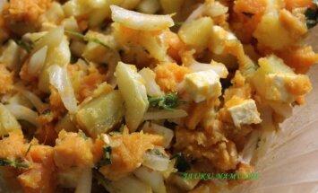Bulvių salotos su fetos sūriu
