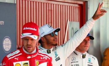 Sebastianas Vettelis, Lewisas Hamiltonas ir Valtteri Bottas