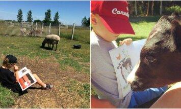 Vaikai skaito gyvūnams