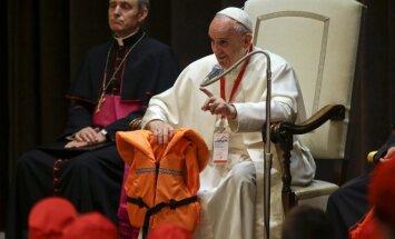 Popiežius pagerbė Viduržemio jūroje nuskendusių aukų atminimą