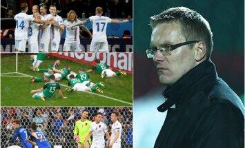 Valdas Dambrauskas, Islandijos, Šiaurės Airijos, Albanijos rinktinės (Reuters ir AFP nuotr.)