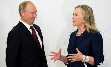 Vladimiras Putinas ir Hillary Clinton
