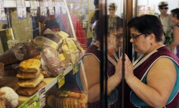 Maisto produktai Rusijoje, pardavėja, duonos gaminiai