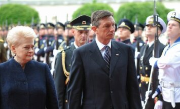 President Dalia Grybauskaitė and Slovenia's President Borut Pahor