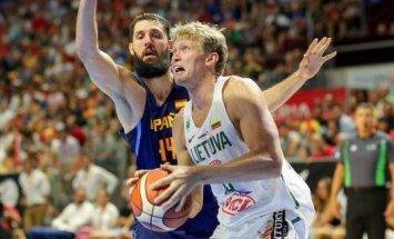 Lietuvos rinktinė antrą kartą įveikė Ispaniją