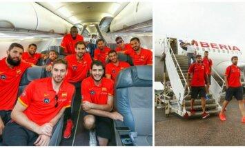 Ispanijos krepšinio rinktinė atvyko į Kauną