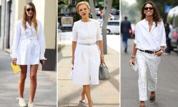 Balta spalva šią vasarą – viena madingiausių.