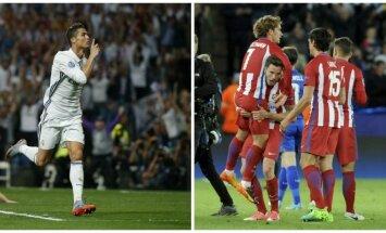 "Cristiano Ronaldo ir Madrido ""Atletico"" / Foto: Reuters/AP"
