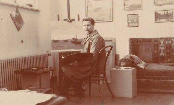 Antanas Žmuidzinavičius dirbtuvėje (1932)