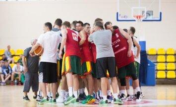 Lietuvos krepšinio rinktinės treniruotė Palangoje