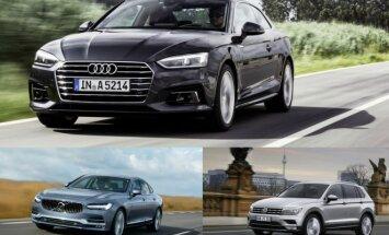 Audi A5, Volvo S90, Volkswagen Tiguan