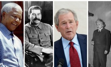 N. Mandela, J. Stalinas, G. Bushas ir A. Einsteinas