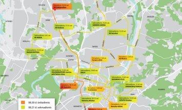 Varom už Lietuvą Vilniuje žemėlapis
