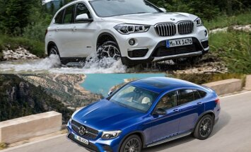 BMW X1 ir Mercedes-Benz GLC Coupe